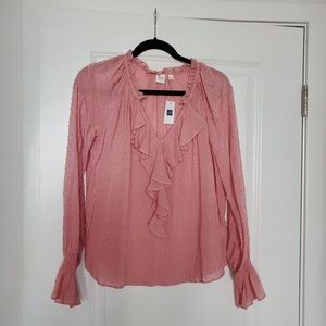 Gap pink blouse new with tag